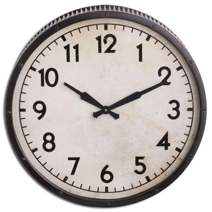 Grey Drummer Clock - Cosy Home Interiors