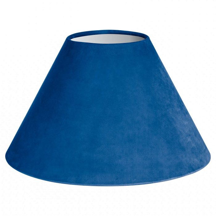 Large Sea Blue Velvet Lampshade - Cosy Home Interiors