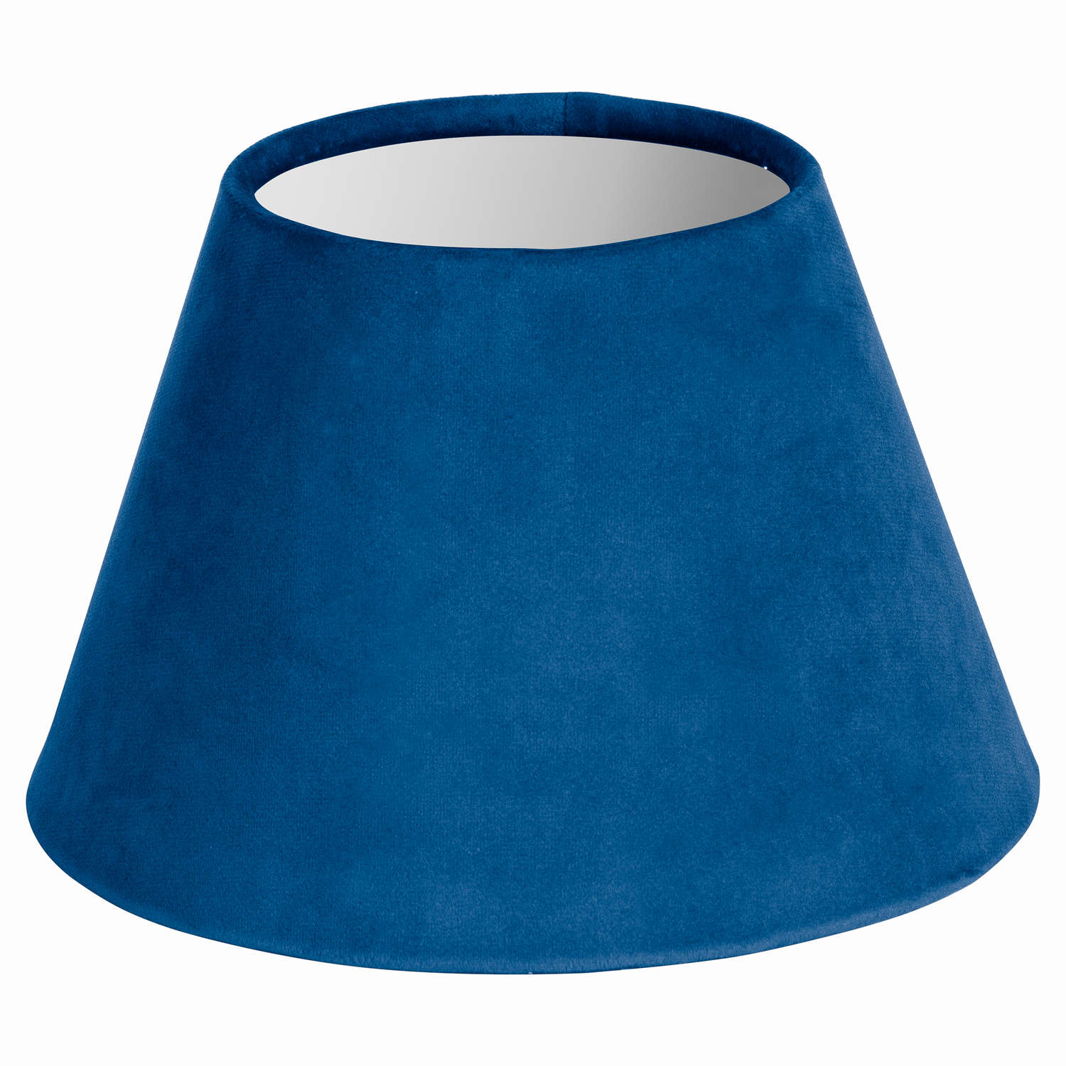 Small Sea Blue Velvet Lampshade - Cosy Home Interiors