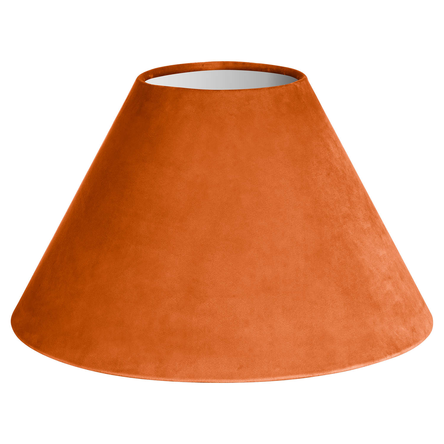 Large Orange Velvet Lampshade - Cosy Home Interiors