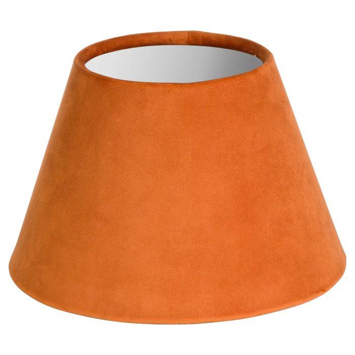 Small Orange Velvet Lampshade - Cosy Home Interiors