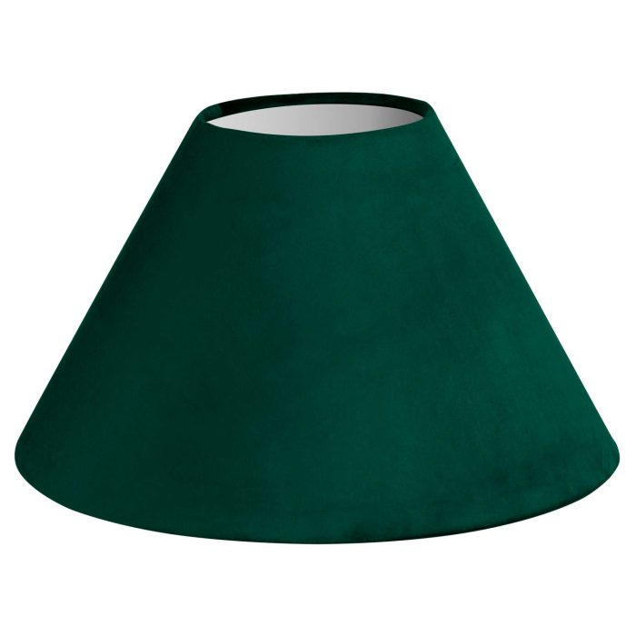 Large Emerald Green Velvet Lampshade - Cosy Home Interiors