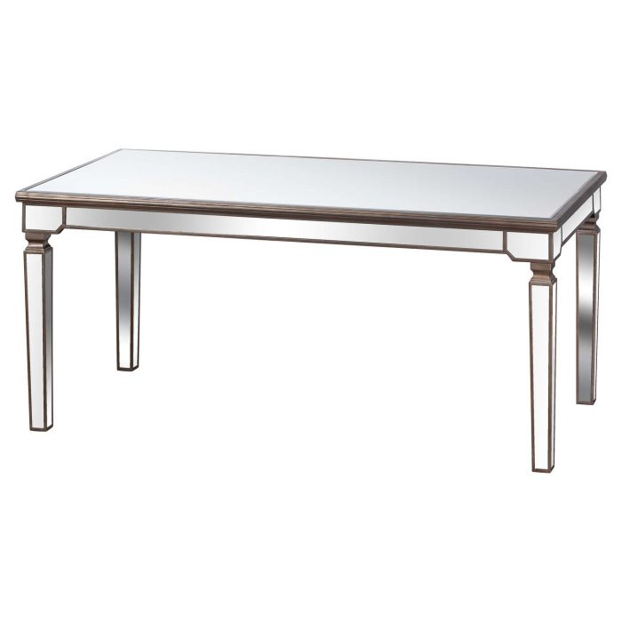 The Belfry Collection Rectangle Mirrored Dining Table - Cosy Home Interiors