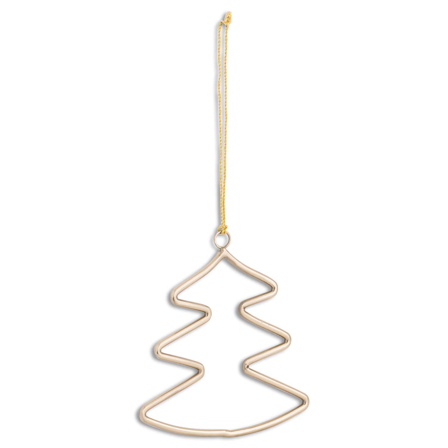 Brass Hanging Christmas Tree Silhouette Decoration - Cosy Home Interiors