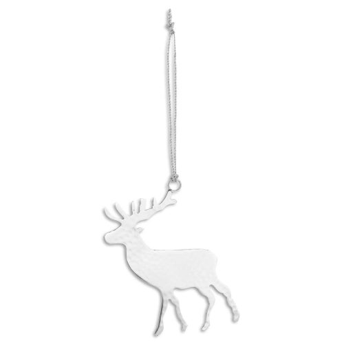 Silver Hanging Stag Decoration - Cosy Home Interiors