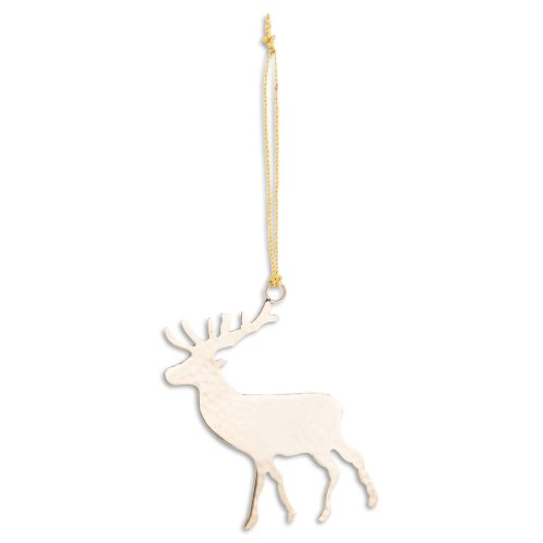 Brass Hanging Stag Decoration - Cosy Home Interiors
