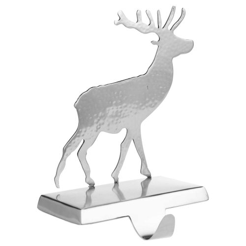 Silver Stag Stocking Holder - Cosy Home Interiors