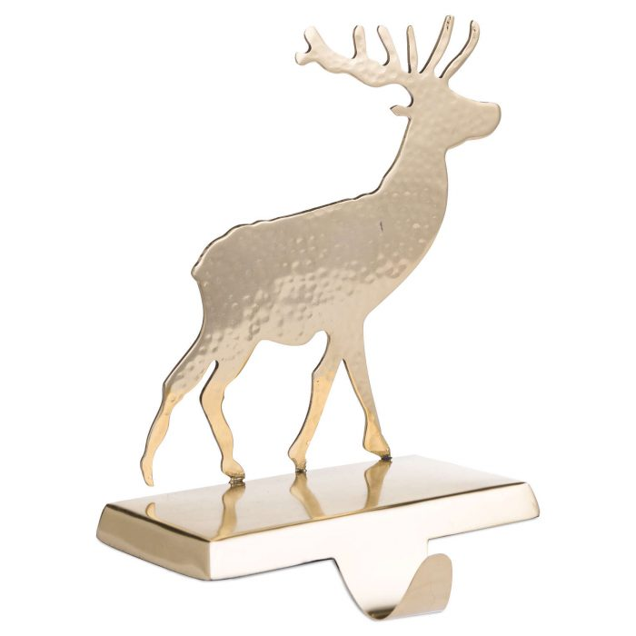 Brass Stag Stocking Holder - Cosy Home Interiors
