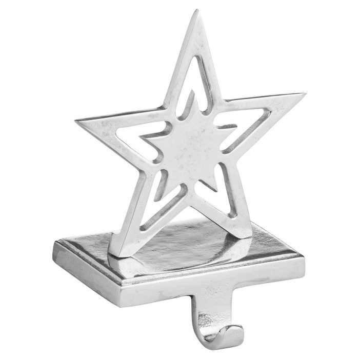 Star Nickel Stocking Holder - Cosy Home Interiors