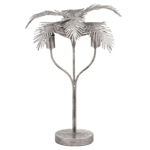 Antique Bronze Palm Leaf Table Lamp - Cosy Home Interiors