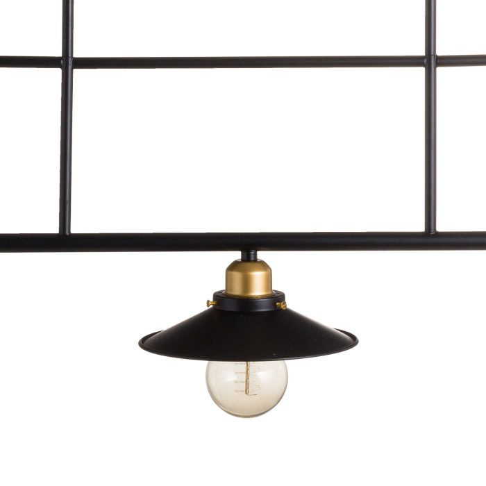 Triple Hanging Black And Brass Industrial Light - Cosy Home Interiors