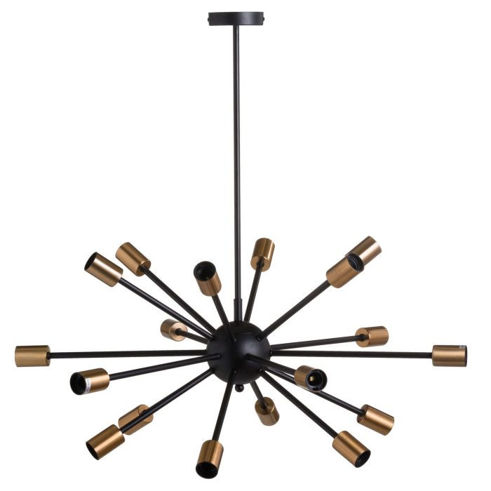 Large Black And Brass Bomb Light - Cosy Home Interiors