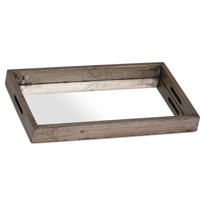 Augustus Mirrored Display Tray With Metallic Detail - Cosy Home Interiors