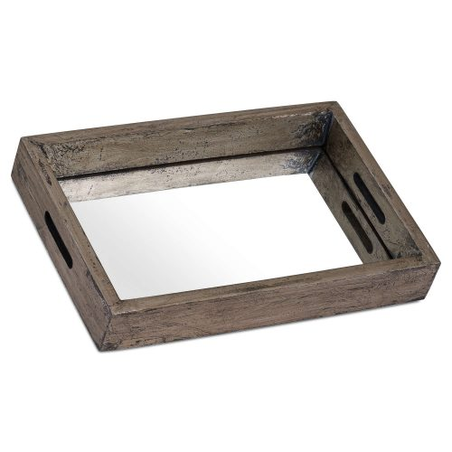 Augustus Mirrored Tray With Metallic Detail - Cosy Home Interiors
