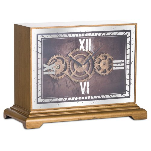 Mirrored Moving Mechanism Mantel Clock - Cosy Home Interiors