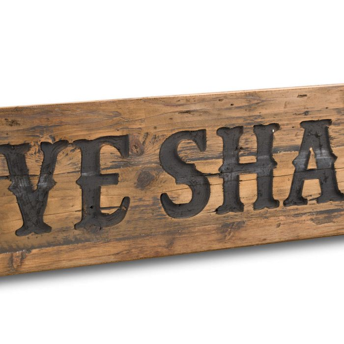 Love Shack Rustic Wooden Message Plaque - Cosy Home Interiors