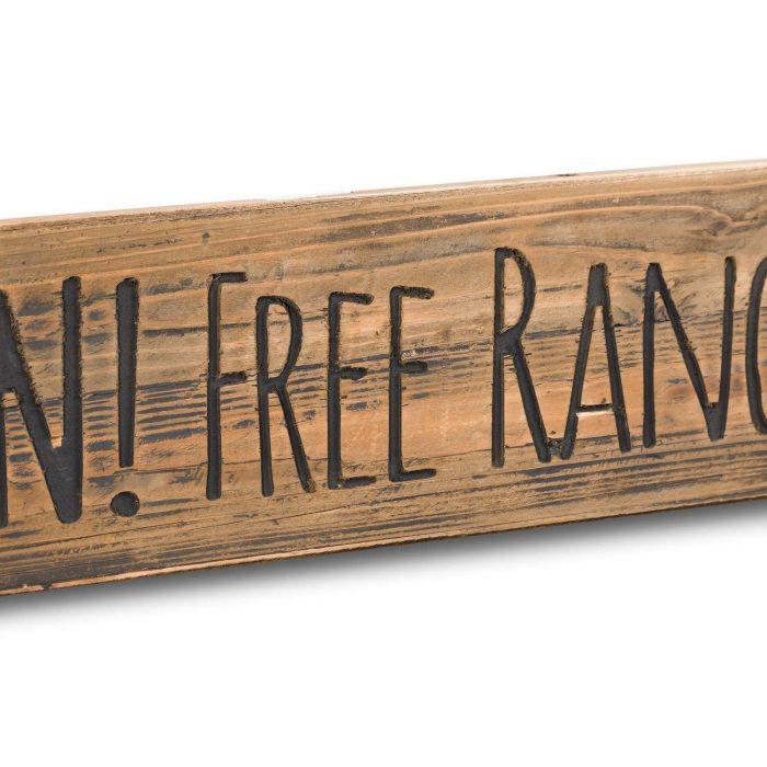 Free Range Children Rustic Wooden Message Plaque - Cosy Home Interiors