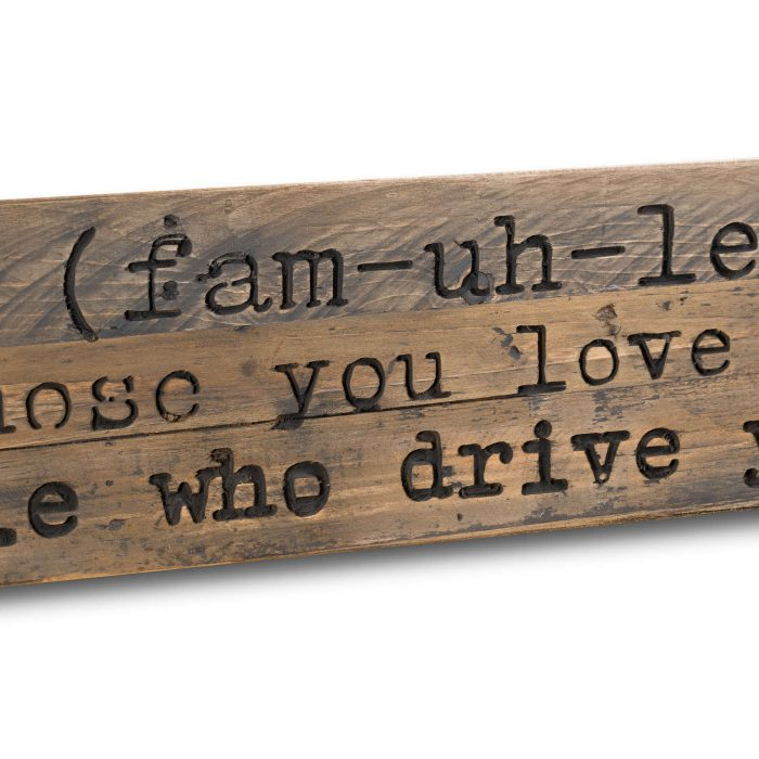 Family Rustic Wooden Message Plaque - Cosy Home Interiors