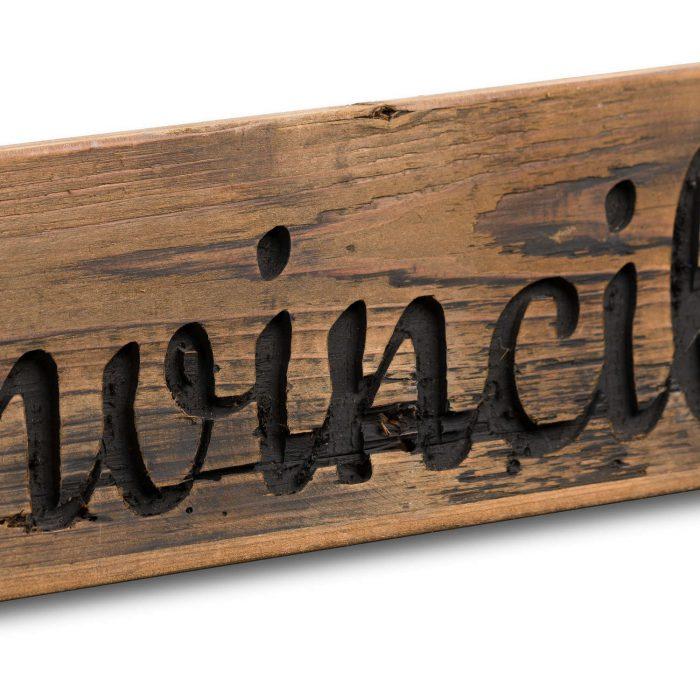 Ginvincible Rustic Wooden Message Plaque - Cosy Home Interiors