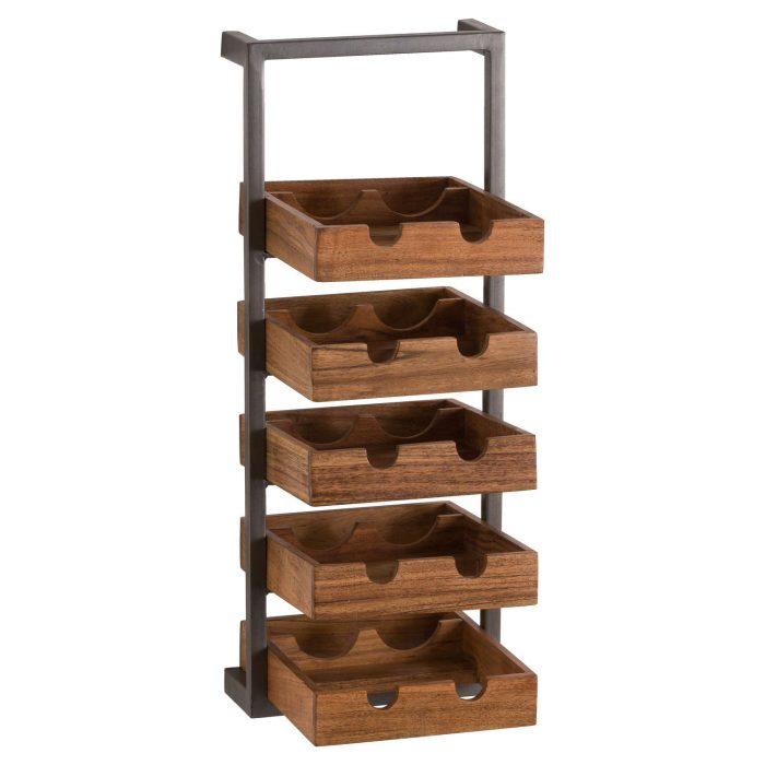 Live Edge Collection 10 Bottle Hanging Wine Rack - Cosy Home Interiors