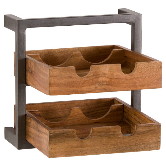 Live Edge Collection 4 Bottle Wine Rack - Cosy Home Interiors