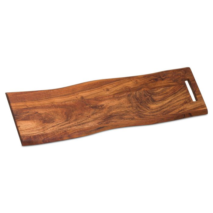 Live Edge Chopping Board With Handle - Cosy Home Interiors