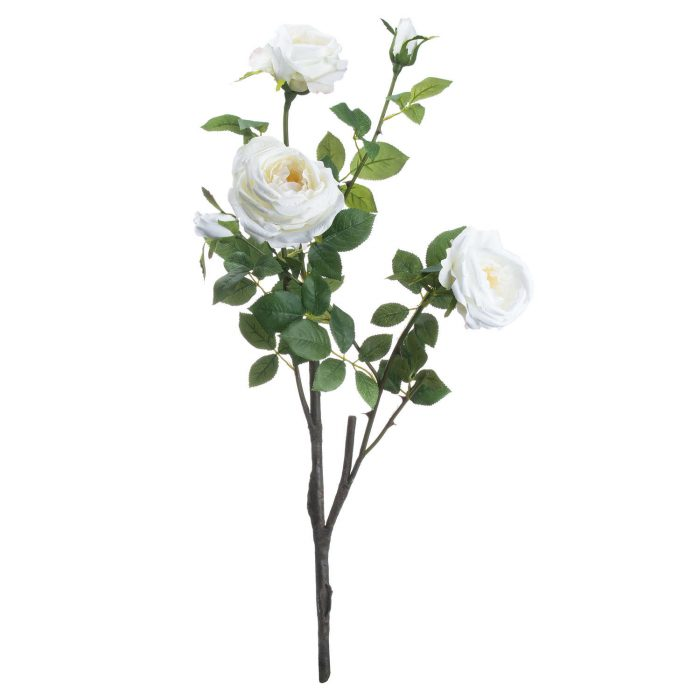 Classic White Garden Rose Spray - Cosy Home Interiors