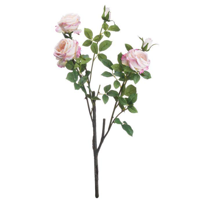 Pale Pink Garden Rose Spray - Cosy Home Interiors