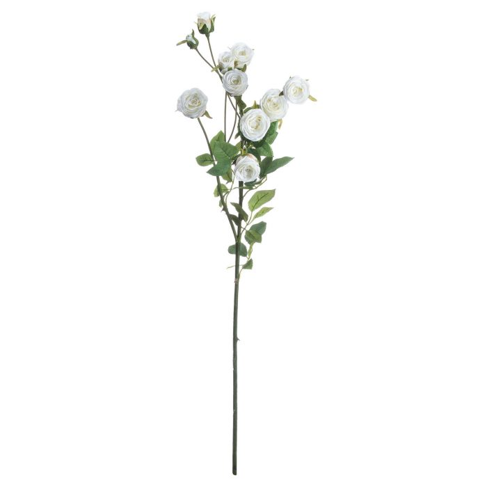 Large Classic White Spray Rose - Cosy Home Interiors