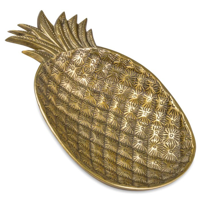 Ohlson Antique Brass Decorative Pineapple Dish - Cosy Home Interiors