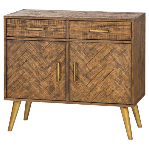 Havana Gold 2 Door 2 Drawer Sideboard - Cosy Home Interiors