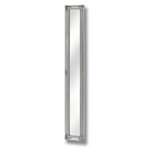 Baroque Slimline Antique Silver Full Length Mirror - Cosy Home Interiors