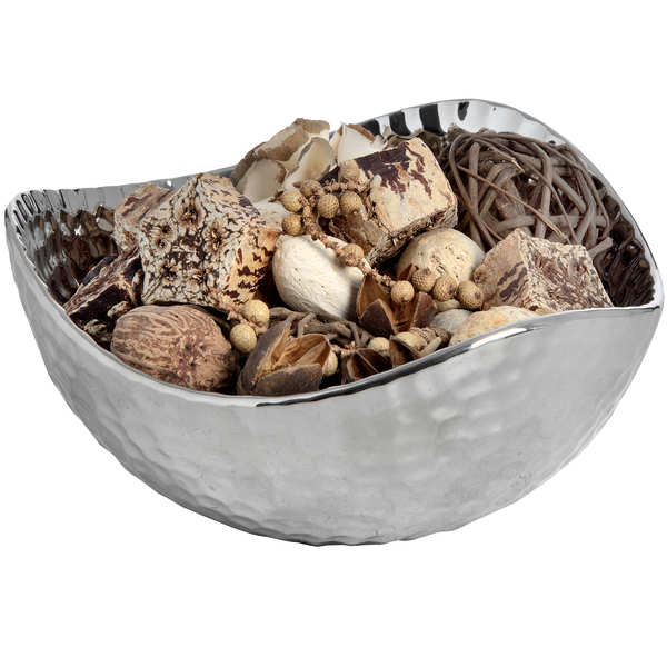 Silver Ceramic Dimple Effect Display Bowl - Small - Cosy Home Interiors