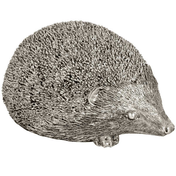 Large Silver Hedgehog - Cosy Home Interiors