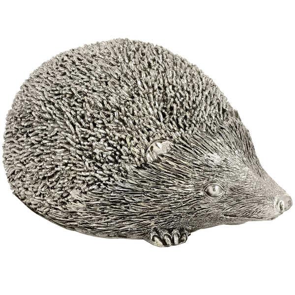 Small Silver Hedgehog - Cosy Home Interiors