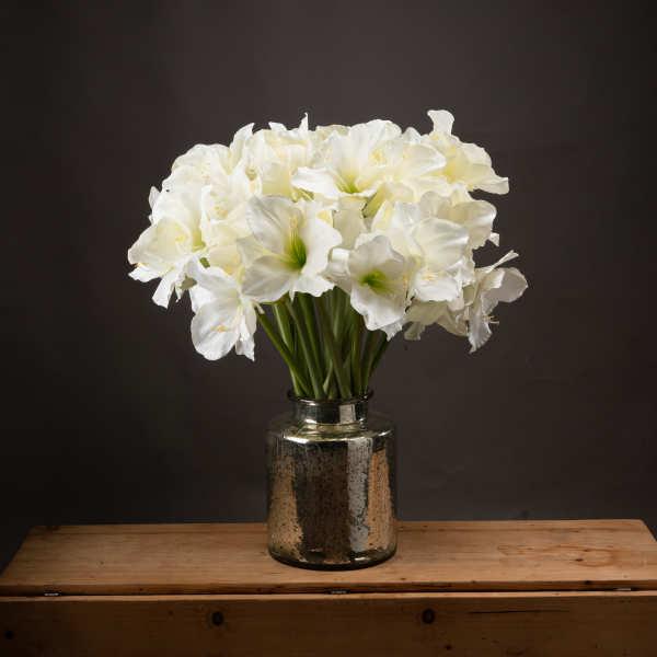Classic White Amaryllis Flower - Cosy Home Interiors