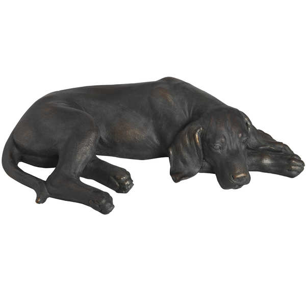 Lazy Spaniel Lying Dog Statue - Cosy Home Interiors