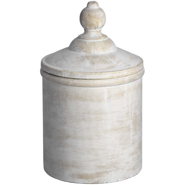 Antique White Cannister - Cosy Home Interiors