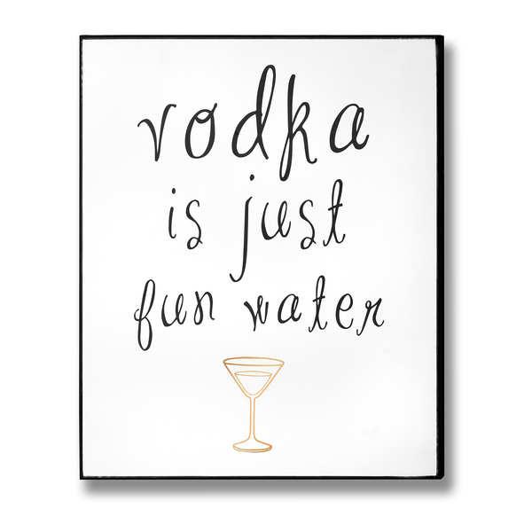 Vodka Plaque - Cosy Home Interiors