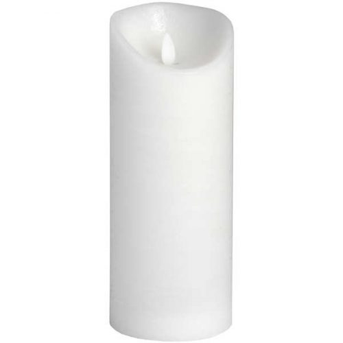 Luxe Collection 3.5 x9 White Flickering Flame LED Wax Candle - Cosy Home Interiors