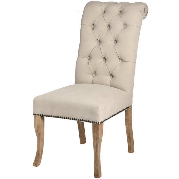 Roll Top Dining Chair With Ring Pull - Cosy Home Interiors