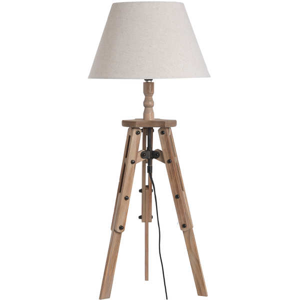 Wooden Tripod Table Lamp - Cosy Home Interiors