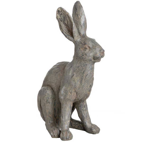 Large Metallic Hare Statue - Cosy Home Interiors