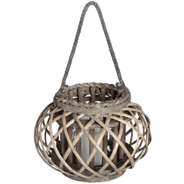 Large Wicker Basket Lantern - Cosy Home Interiors