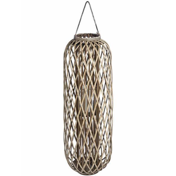 Huge Standing Wicker Lantern - Cosy Home Interiors