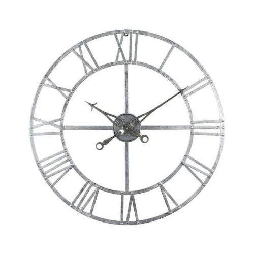 Silver Foil Skeleton Wall Clock - Cosy Home Interiors