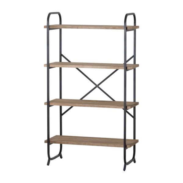 Four Tier Shelf Cross Section Industrial Display Unit - Cosy Home Interiors