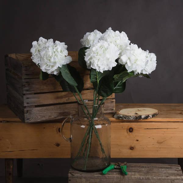 White Small Head Hydrangea - Cosy Home Interiors