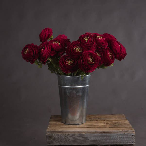 Red Ranunculus Spray - Cosy Home Interiors