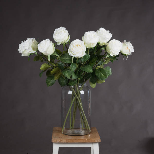 Traditional White Rose - Cosy Home Interiors